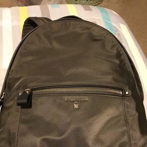 Michael Kors nylon Kelsey gray backpack